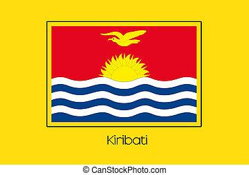 Flag Illustration of the country of Kiribati