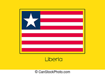 Flag Illustration of the country of Liberia