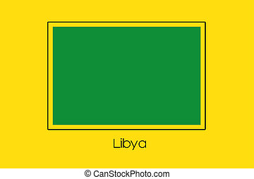 Flag Illustration of the country of Libya-83