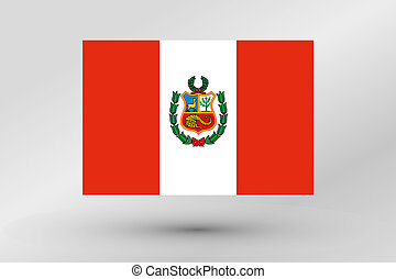 Flag Illustration of the country of Peru