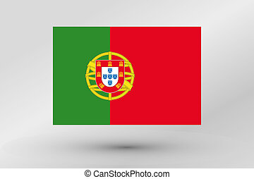 Flag Illustration of the country of Portugal