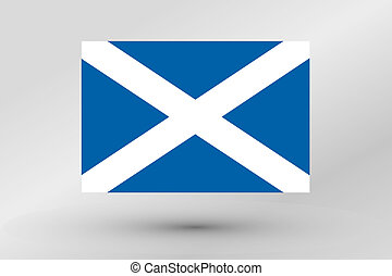 Flag Illustration of the country of Scotland