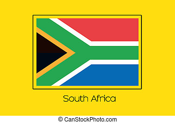 Flag Illustration of the country of South Africa