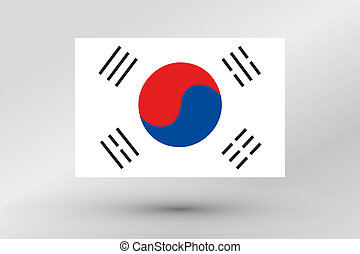 Flag Illustration of the country of South Korea