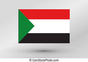 Flag Illustration of the country of Sudan
