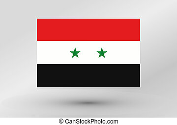 Flag Illustration of the country of Syria