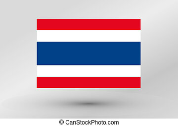 Flag Illustration of the country of Thailand