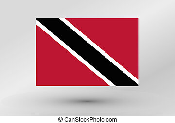 Flag Illustration of the country of Trinidad and Tobago
