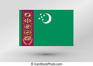Flag Illustration of the country of Turkmenistan