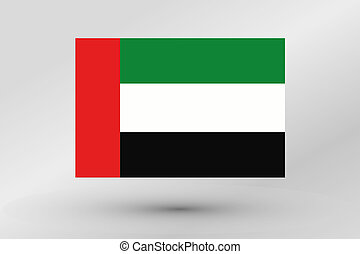 Flag Illustration of the country of United Arab Emirates