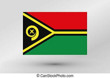 Flag Illustration of the country of Vanuatu