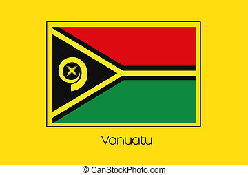 Flag Illustration of the country of Vanuatu