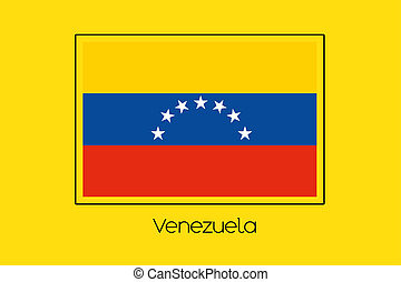 Flag Illustration of the country of Venezuela