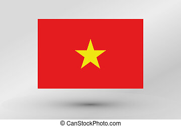 Flag Illustration of the country of Vietnam