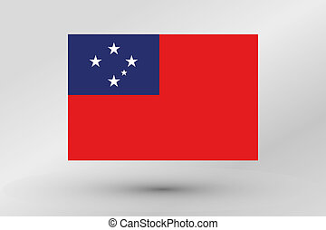Flag Illustration of the country of Western Samoa