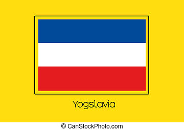 Flag Illustration of the country of Yugoslavia