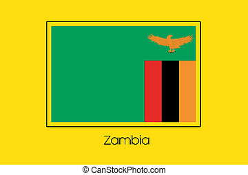Flag Illustration of the country of Zambia