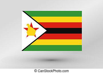 Flag Illustration of the country of Zimbabwe