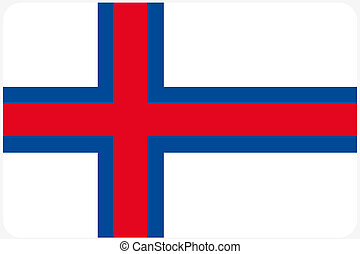 Flag Illustration with rounded corners of the country of Faroe Islands