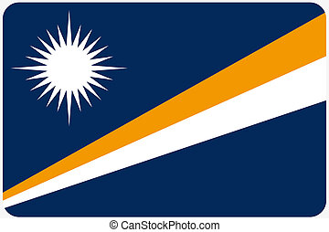 Flag Illustration with rounded corners of the country of Marshall Islands