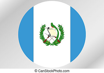 Flag Illustration within a circle of the country of ...