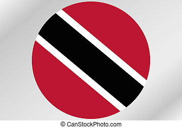 Flag Illustration within a circle of the country of Trinidad and Tobago