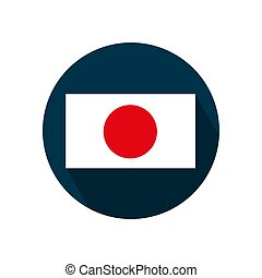 A flag of japan on a white background. Vector illustration.