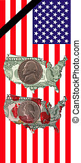 flag of the United States - A flag of the United States with...