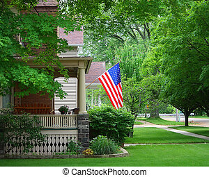 A Flag On A Porch