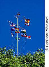 A flag tree in Sassnitz.