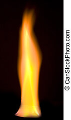 flame - a flame over black background