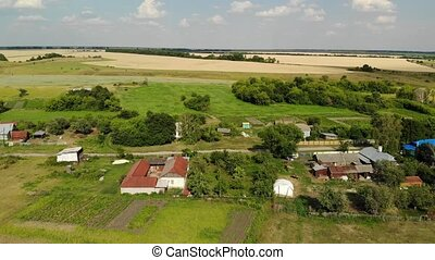 Flight over the village in Russia - A Flight over the...