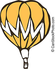 A floating fire balloon