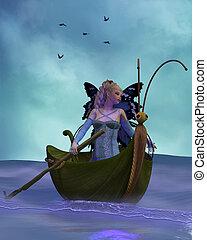 Fairy Barliecorn - A flock of Hummingbirds fly with Fairy...