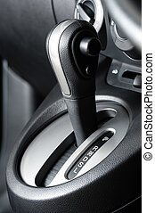 gear shift - A floor selection lever of car with automatic...
