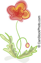 A flower, imitation of children's drawings.