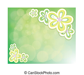 A flowery background  - Illustration of a flowery background