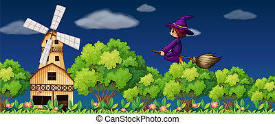 A flying witch