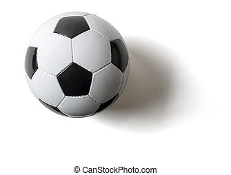 A football on a white background