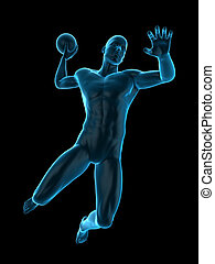 a football player - medically accurate 3d illustration of a...