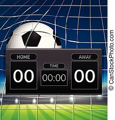 A football scoreboard template illustration