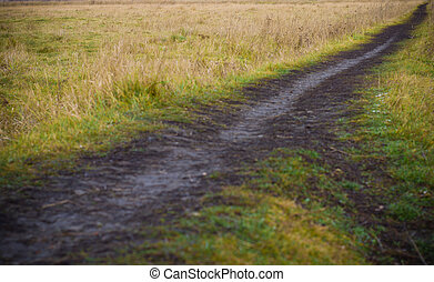 a Footpath Through the Countryside - Symbol of Target Achievement