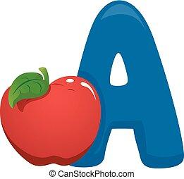 A for Apple Illustration