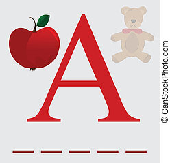 A for apple vector