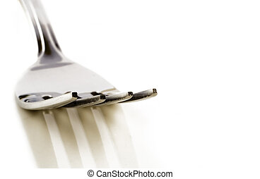 A Fork isolated on a white background