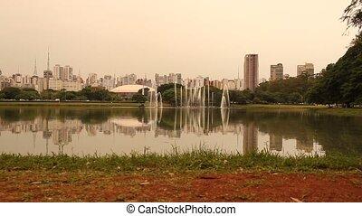 Ibirapuera Park in Sao Paulo - A fountain in Ibirapuera Park...