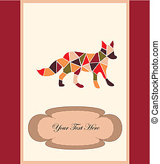 A fox - mosaic fox, a card for you design
