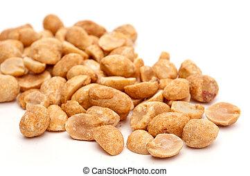 a, foyer peu profond, macro, image, de, cacahuètes