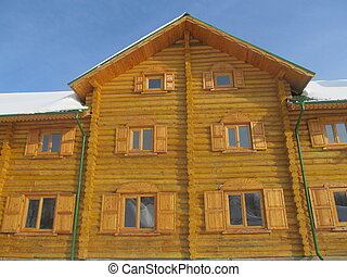 A fragment of a wooden house