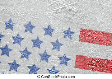 A fragment of an American flag